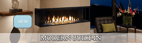 modern built in gas fireplaces