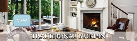 traditional built in gas fireplaces