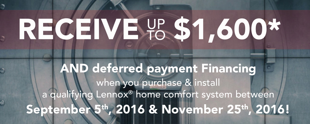 lennox fall 2016 rebates