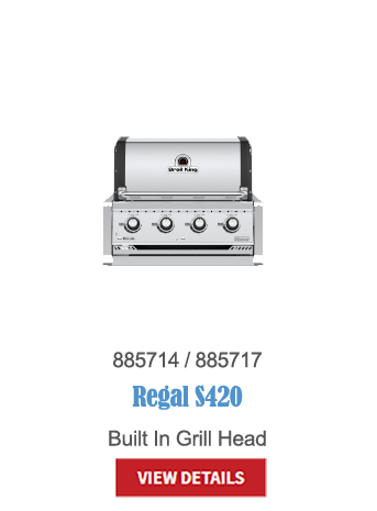 gas grills, bbq, napoleon, crown verity, broil king, built in bbq, outdoor kitchen, Regal S420