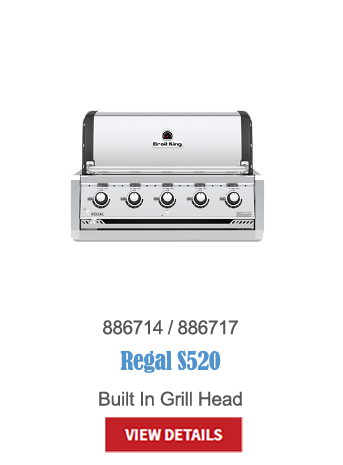 gas grills, bbq, napoleon, crown verity, broil king, built in bbq, outdoor kitchen, Regal S520